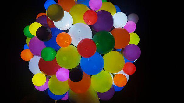 Balloon, Sculpture, Colors, Led, Lighting, Hope