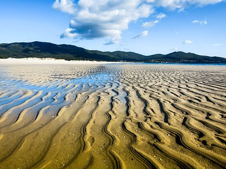 Spain, Beach, Ebb
