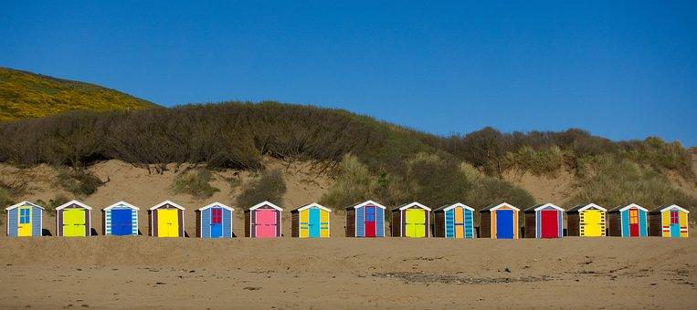 Beach, Hut, Seaside, Cabin, Bathing, Box, Shelter