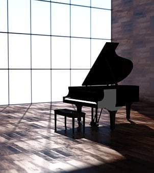 Instrument, Piano, Black, Music, Illustration