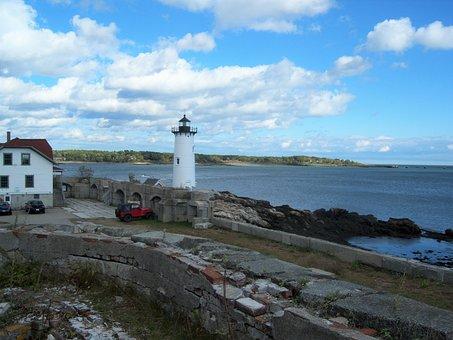 Coast Guard, Light House, Portsmouth, Marine, Shoreline