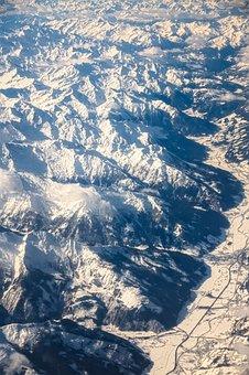Aerial View, Alpine, Mountains, Luftbildaufnahme, Fly