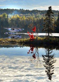 Seaplane, Autumn Landscape, Colors, Nature, Fall, Trees