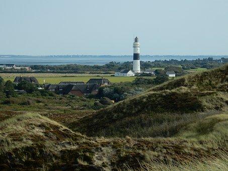 Lighthouse, Kampen, Sylt, Uwe's Dune, North Sea