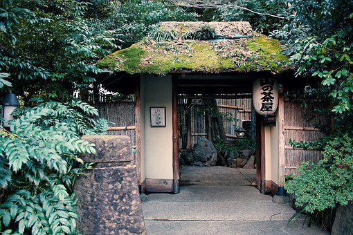 Japan, Once Upon A Time, Abstract, Entrance, Moon
