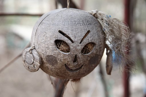 Ornament, Day Of The Dead, Spain, Coconut, Straw