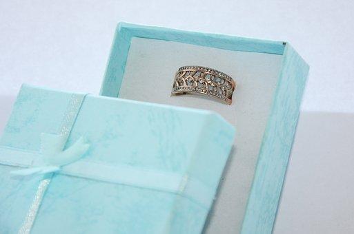 Ring, Gift, Box Gift, Ornament