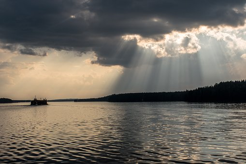 Saimaa, Clouds, Lake, Landscape, Finnish