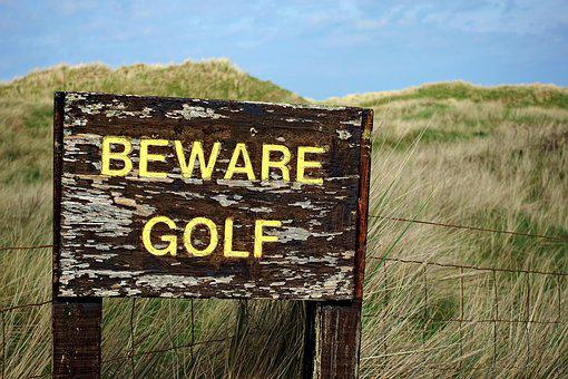 Golf, Beware, Danger, Hazard, Threat, Health, Safety