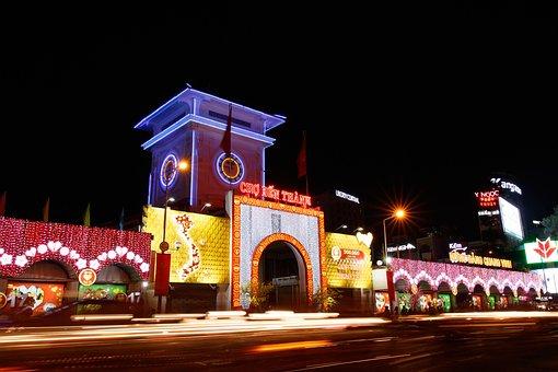 Ben Thanh Market, Saigon, Ho Chi Minh, Vietnam, Asia
