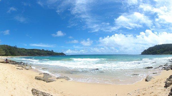 Kauai, Beach, Sand, Vacation, Turquoise, Tourism