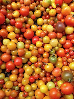 Tomatoes, Vegetables, Market, Healthy, Yellow, Red