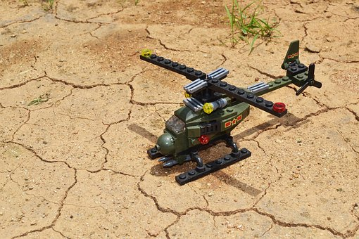Lego, Toys, Kids, Aircraft, Helicopter, Minatur