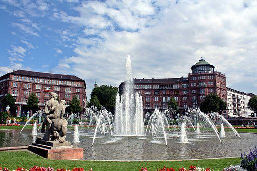 Mannheim, Water Games, Park, Imperial Weather, Kurpfalz