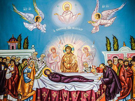 The Assumption Of Virgin Mary, Iconography, Painting