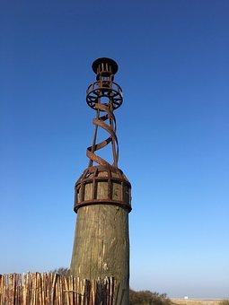 Lighthouse, Stainless, Sky, Summer, Borkum