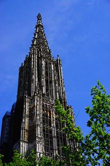 Ulm Cathedral, Münster, Ulm, Building, Dom, Tower