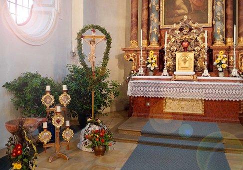 Church, Sunday, Easter Time, Religion, Catholic, Cross