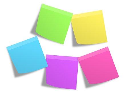 Postit, Memos, Notes, Colorful, Post It, List, Paper
