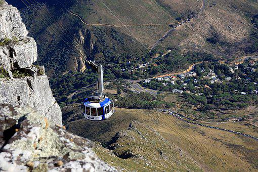 South Africa, Table Mountain, Cable Car, Outlook