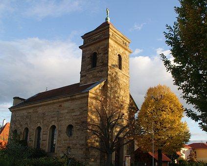 Church, Middle Ages, Palatinate, Hambach, Tree, Bush