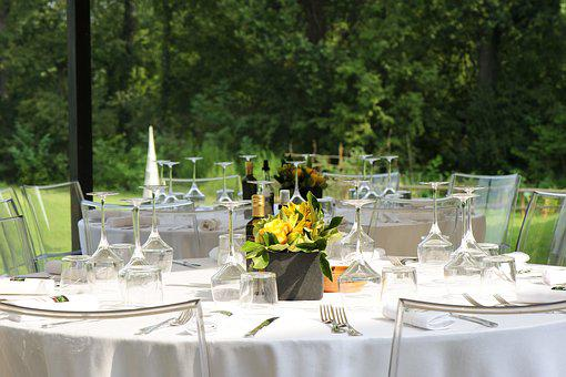 Breakfast, Party, Banquet Facilities, Table, Outdoors