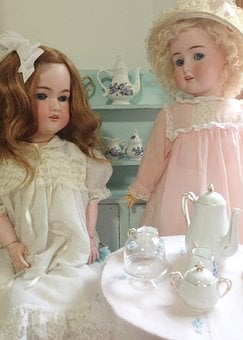 Dolls, Doll, Tea, Antique, Childhood, Collect, Feminine