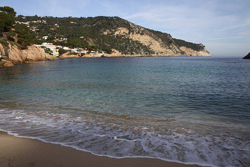 Beach, Sea, Is, Catalunya, Catalonia, Begur, Aiguablava