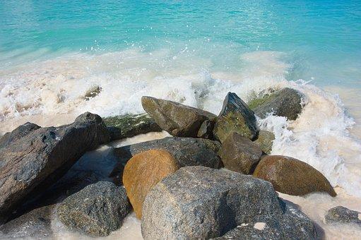 Beach, Rocks, Surf, Sea, Ocean, Water, Coast, Shore