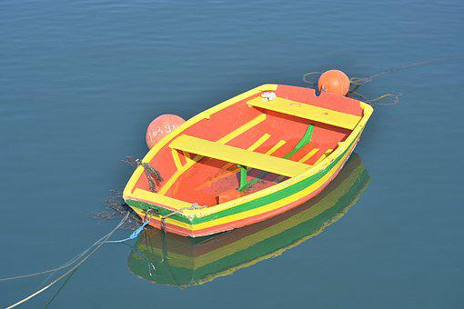 Boat, Color, Marsh, Water, Navigation, Red, Yellow