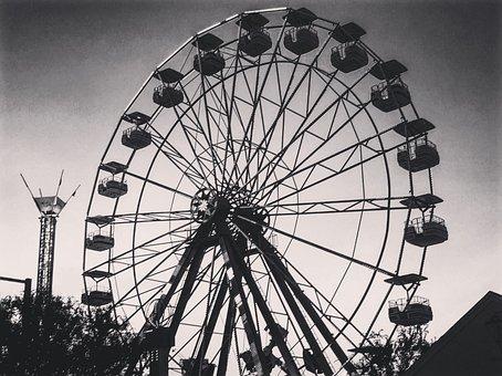 Ferris Wheel, Carnival, Fun, Wheel, Fair, Park