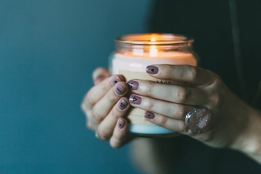 Light, Candle, Girl, Female, Hands, Grasp, Grip, Nails