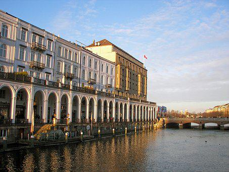 Hamburg, Architecture, Alsterarkaden, Historically