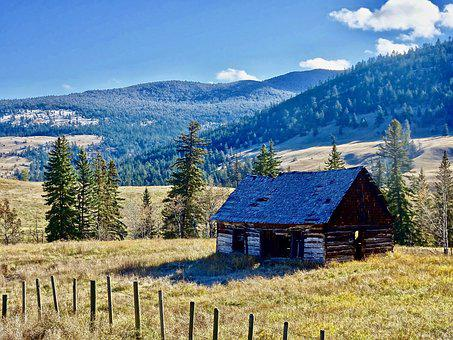 Cabin, Hut, Cottage, Mountain, Traditional, House
