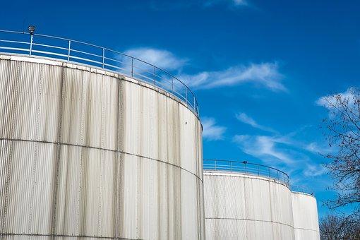 Gasoline Tanks, Port, Industry, Silos, Industrial Plant