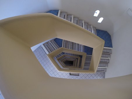 Stairs, Art, Architecture, Geometry, Spiral, Photo