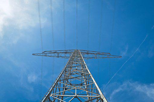 Current, Strommast, Power Line, Electricity, Energy