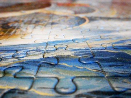 Puzzle, Texture, Background