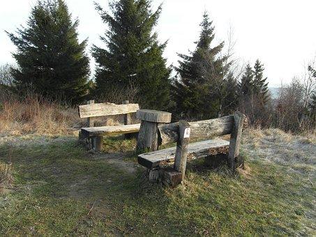 Bank, Break, Sit, Bench, Nature, Rest, Hiking