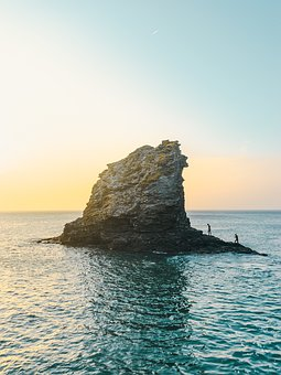 Water, Formation, Rock, Swim, Surf, Sunset, Sunrise