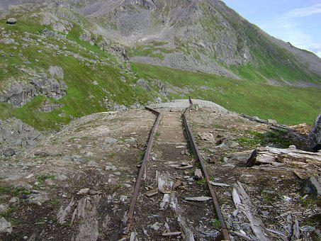 Alaska, Train, Tracks, Gold Mine, Rail, Mountains