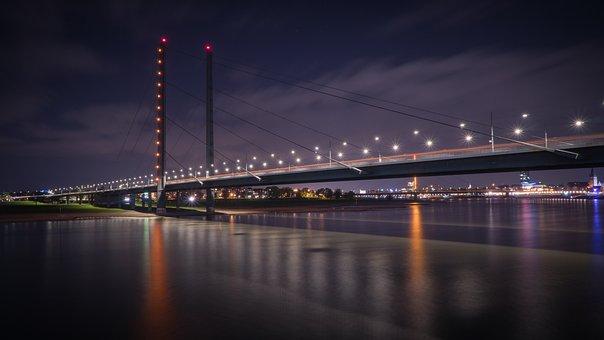Bridge, Rhine Knee Bridge, Düsseldorf