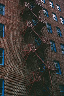 Fire Escape, Stairs, Apartment, Dwell, Dwelling, Safety