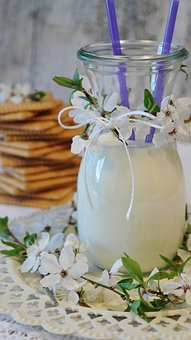 Milk, Cookies, Butter Biscuits, Glass, Glass Of Milk