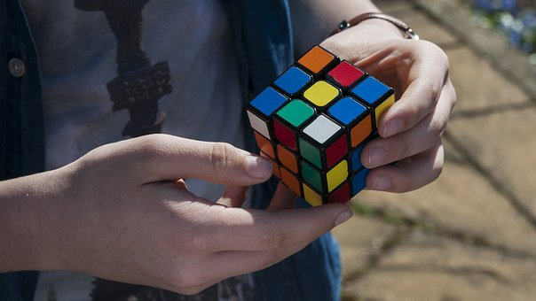 Cube, Hand, Boy, Young, Youth, Fingers, Rubik, Puzzle