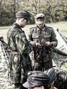 Re-enactors, Groningen, Fallschirmjäger, Wehrmacht