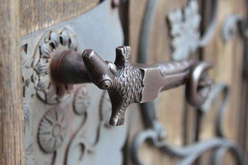 Door Handle, Metalwork, The Art Of, Sculpture, Church