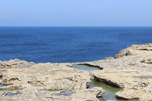 Coast, Rock Pool, Sea, Nature, Blue, Seascape, Island