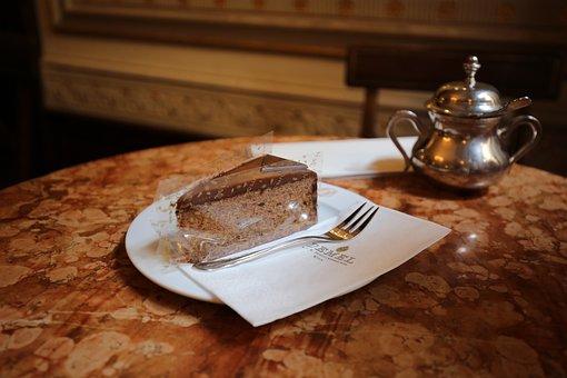 Demel, Austria, Bin, Chocolate Cake, Snack, Coffee