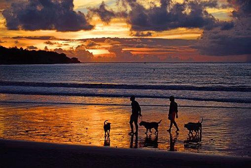 Jimbaran Beach, Jimbaran, Indonesia, Bali, Sunset